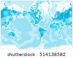 physical world map america... | Shutterstock .eps vector #514138582