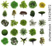 tree isolated set  | Shutterstock . vector #514154872