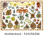 colorful design set with... | Shutterstock . vector #514156336