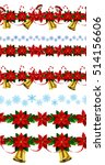 set of n seamless christmas... | Shutterstock .eps vector #514156606