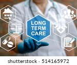 doctor touched long term care... | Shutterstock . vector #514165972