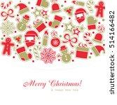 christmas background. eps 10... | Shutterstock .eps vector #514166482