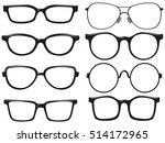 different design of eyeglasses... | Shutterstock .eps vector #514172965