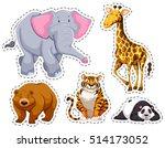 set of different wild animals...   Shutterstock .eps vector #514173052