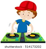 Dj Playing Music At The Statio...