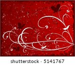 grunge floral background with... | Shutterstock .eps vector #5141767