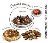 menu of spain colorful... | Shutterstock .eps vector #514186582