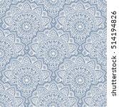seamless pattern.  hand drawn... | Shutterstock .eps vector #514194826