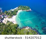 aerial photo of tropical island ... | Shutterstock . vector #514207012