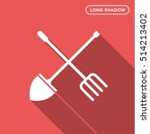 spade and pitchfork vector icon ...