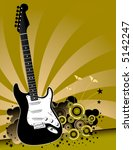 a solid body electric guitar is ... | Shutterstock .eps vector #5142247