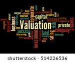 Valuation  Word Cloud Concept...