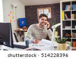 young man working on computer... | Shutterstock . vector #514228396