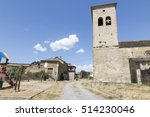 Small photo of San Miguel de Orna church Serrablo romanesque route in Valley of Tena Huesca Aragon Spain on October 2016