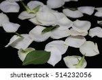 white rose petals  | Shutterstock . vector #514232056