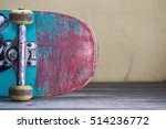 Close Up Of Old Skateboard On...