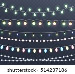 christmas glowing lights ... | Shutterstock .eps vector #514237186