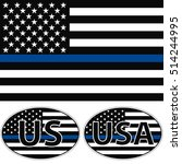 An American Flag Symbolic Of...