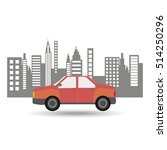 car sedan city background... | Shutterstock .eps vector #514250296