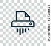 shredder icon vector  clip art. ...
