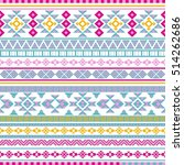 ethnic seamless pattern with... | Shutterstock .eps vector #514262686