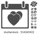 hearts calendar day pictograph... | Shutterstock .eps vector #514265422