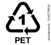 plastic recycle symbol pet 1 ... | Shutterstock .eps vector #514279816