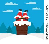 illustration vector. santa and... | Shutterstock .eps vector #514280092