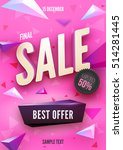 final sale poster or flyer... | Shutterstock .eps vector #514281445