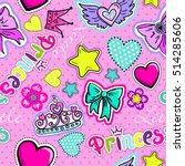 cute seamless pattern for... | Shutterstock .eps vector #514285606