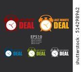 vector   last minute deal sign... | Shutterstock .eps vector #514298962
