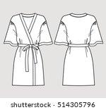 white bathrobe for women.... | Shutterstock .eps vector #514305796