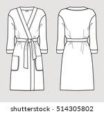 white bathrobe for women.... | Shutterstock .eps vector #514305802