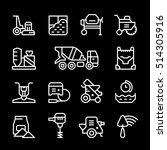 set line icons of concrete | Shutterstock .eps vector #514305916