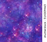 purple space galaxy stars print ... | Shutterstock . vector #514309465