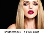 sensual glamour portrait of... | Shutterstock . vector #514311805