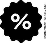 percentage icon | Shutterstock .eps vector #514317532