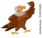 funny eagle making selfie....