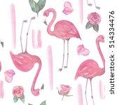 watercolor seamless pattern... | Shutterstock . vector #514334476