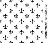 fleur de lis seamless pattern.... | Shutterstock .eps vector #514336612