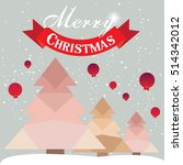 christmas card with christmas... | Shutterstock .eps vector #514342012