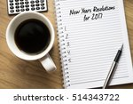 new year resolutions for 2017... | Shutterstock . vector #514343722