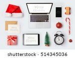christmas mock up template with ... | Shutterstock . vector #514345036