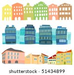 set of a buildings and houses | Shutterstock .eps vector #51434899