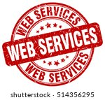 web services stamp.  red round... | Shutterstock .eps vector #514356295