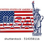 statue of liberty. new york and ... | Shutterstock .eps vector #514358116