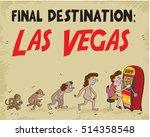 comic man evolution from monkey ... | Shutterstock .eps vector #514358548