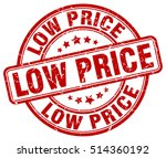low price stamp.  red round low ... | Shutterstock .eps vector #514360192