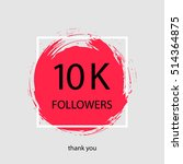 thank you followers. icon with... | Shutterstock .eps vector #514364875