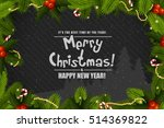 christmas greeting card. merry... | Shutterstock .eps vector #514369822